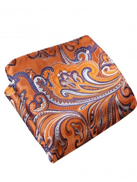 Pochette orange à motifs